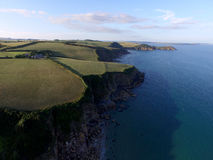 The cliffs of Pentewan Sands Royalty Free Stock Photography