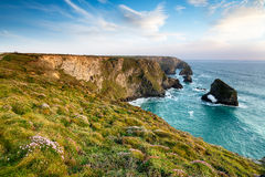 Cliffs at Pentire Steps Stock Photography