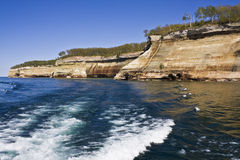 Cliffs in Pictured Rocks National Lakeshore Royalty Free Stock Photos