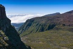 Cliffs, Piton de La Fournaise, Reunion Island. Cliffs, Piton de La Fournaise at Reunion Island Stock Photography