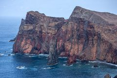 Ponta De Gale Cliffs. The Cliffs at Ponta De Gale on the Portuguese Island of Madeira Royalty Free Stock Photo