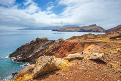 Cliffs at the Ponta de Sao Lourenco, Madeira. Cliffs at Ponta de Sao Lourenco, Madeira, Portugal Stock Image