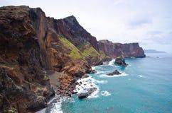 Cliffs of Ponta de Sao Lourenco peninsula - Madeira island Stock Photography