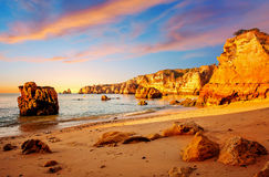 Cliffs in Portugal Royalty Free Stock Photography