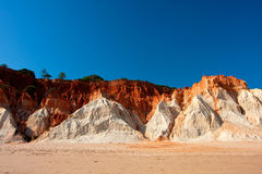 Cliffs at Praia de Falesia, Portugal. Stock Image