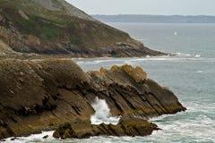 Cliffs of Presqu'ile de Crozon Stock Photos