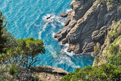 Cliffs in the promontory of Portofino seen from above Royalty Free Stock Photography