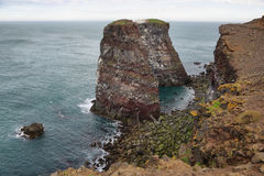 Cliffs in Raudinupur, northeast of Iceland. Stock Photos