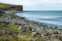 Cliffs in Raudinupur, northeast of Iceland. Stock Photo