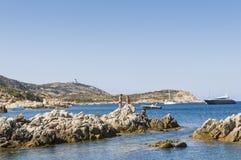 Cliffs at Revellata peninsula Corsica Royalty Free Stock Photography