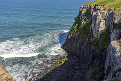 Cliffs and rock. Formations known as Guardhouse Stone located in Torres, the northern coast of Rio Grande do Sul Stock Photo