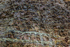 Cliffs rock layers Royalty Free Stock Images