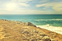 Cliffs and rocks on the Atlantic ocean coast Royalty Free Stock Photos