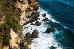Cliffs and Rocks near Uluwatu Temple on Bali, Indonesia Stock Images