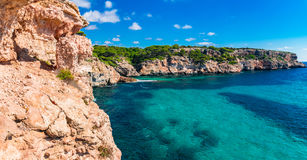 Cliffs Rocky Coast Scenery Majorca Spain Mediterranean Sea Royalty Free Stock Image