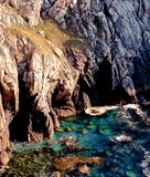 Cliffs on rocky coastline Royalty Free Stock Photo