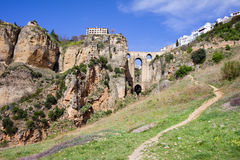 Cliffs of Ronda in Andalusia Stock Image