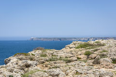 Cliffs in Sagres, Algarve, Portugal Royalty Free Stock Images