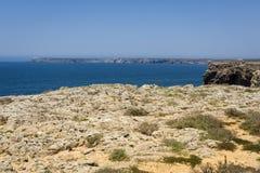 Cliffs in Sagres, Algarve, Portugal Royalty Free Stock Image