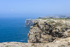 Cliffs in Sagres, South of Portugal Stock Photo
