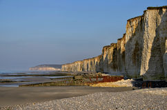 Cliffs of Saint Aubin sur Mer in France Royalty Free Stock Photography