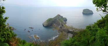 Cliffs of San Juan del Gazteluatxe, Spain Stock Photography