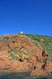 Cliffs at scandola stock photography