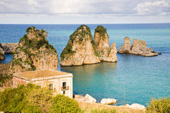 Cliffs Scopello, Sicily Stock Photos