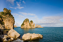 Cliffs at Scopello, Sicily, Italy Stock Images