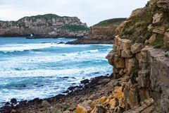 Cliffs and the Sea Royalty Free Stock Images