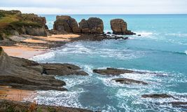 Cliffs in the Sea Royalty Free Stock Image
