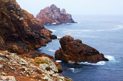Cliffs at sea   coast Royalty Free Stock Images