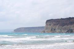 Cliffs on the sea coastline Stock Photo