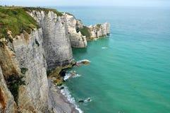 Cliffs in a sea of emerald Stock Photo