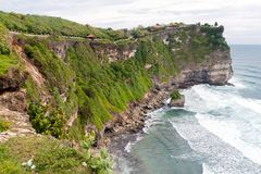 The cliffs and the sea near the Uluwatu Temple Royalty Free Stock Images