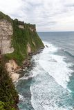 The cliffs and the sea near the Uluwatu Temple Royalty Free Stock Image