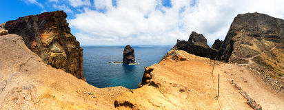 Cliffs in the sea Royalty Free Stock Photos