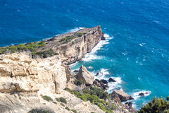 Cliffs and sea. wild nature. Royalty Free Stock Photography