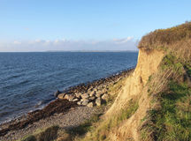 Cliffs by the seashore Denmark Stock Photo
