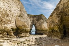 Flamborough Head, East Riding of Yorkshire, UK. The cliffs of Selwicks Bay in Flamborough Head near Bridlington, East Riding of Yorkshire, UK stock photo
