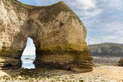 Flamborough Head, East Riding of Yorkshire, UK. The cliffs of Selwicks Bay in Flamborough Head near Bridlington, East Riding of Yorkshire, UK stock image