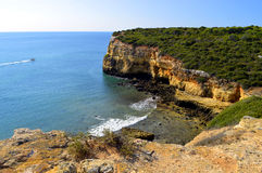The Cliffs at Senhora Da Rocha, Nova Beach on the Algarve Stock Photography