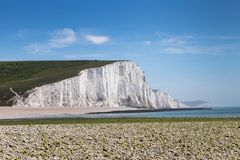 Cliffs in Seven Sisters, Sussex, England stock photo