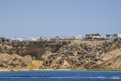 Cliffs in sharm el sheikh Stock Image
