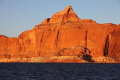 The cliffs on the shores of Lake Powell Royalty Free Stock Photography