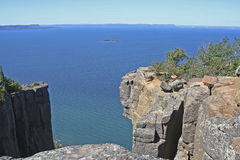Cliffs at Sleeping Giant Provincial Park Stock Images