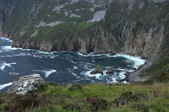 The cliffs of Slieve League Royalty Free Stock Image
