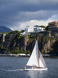 The cliffs of Sorrento Italy. Buildings and terraces on the clifftops of Sorrento Italy stock photo