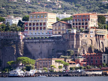 The cliffs of Sorrento Italy. Buildings and terraces on the clifftops of Sorrento Italy royalty free stock photos