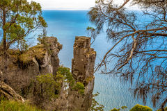 Cliffs in South Bruny: the Monument Stock Photos